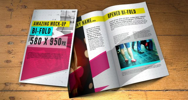 Psd Bifold Brochure Mock-Up Template