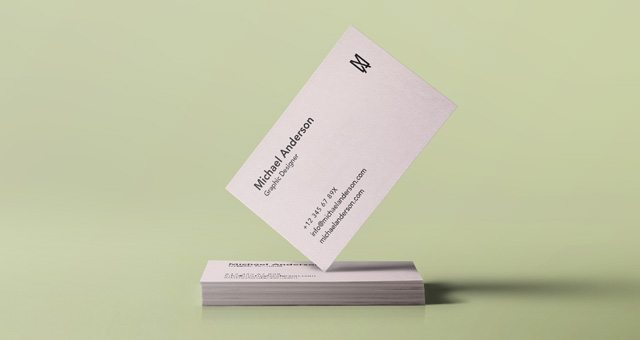 Psd Business Card Mock-Up Vol34