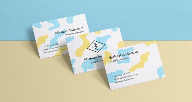 Psd Business Card Mock-Up Vol36