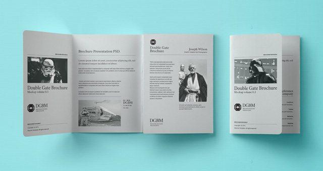 Psd Double Gate Fold Brochure Vol3