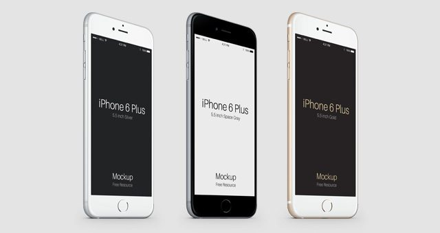 3-4 iPhone 6 Plus Psd Vector Mockup