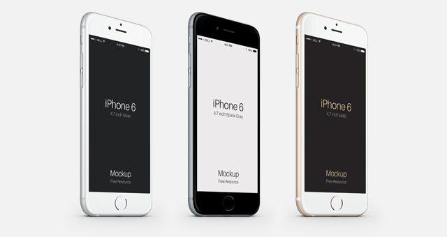 3-4 iPhone 6 Psd Vector Mockup