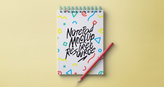 Psd Ringed Notepad Mockup
