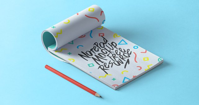 Psd Notepad Mockup Vol2