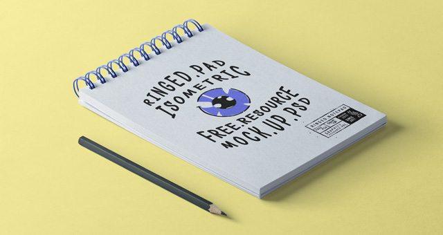 Psd Ringed Notepad Mockup Vol2