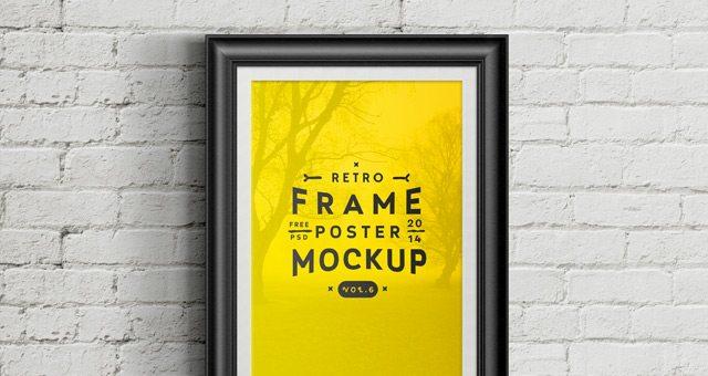 Psd Poster Frame Mockup Vol6