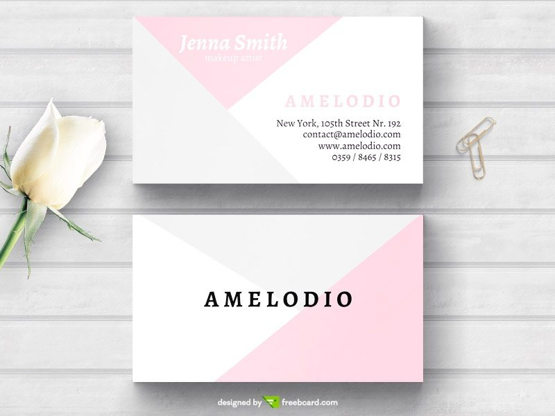 Pastel minimal fashion business card