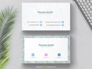 Minimal business card with tropical background