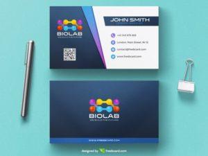 Modern biology business card template