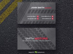 Tire print business card template