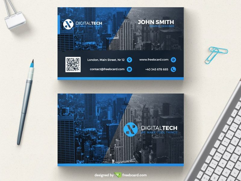 Creative Blue and grey creative business card