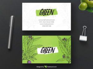 Green bio business card