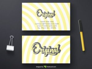 Yellow creative business card