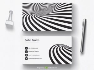 Black and white optical illusion business card