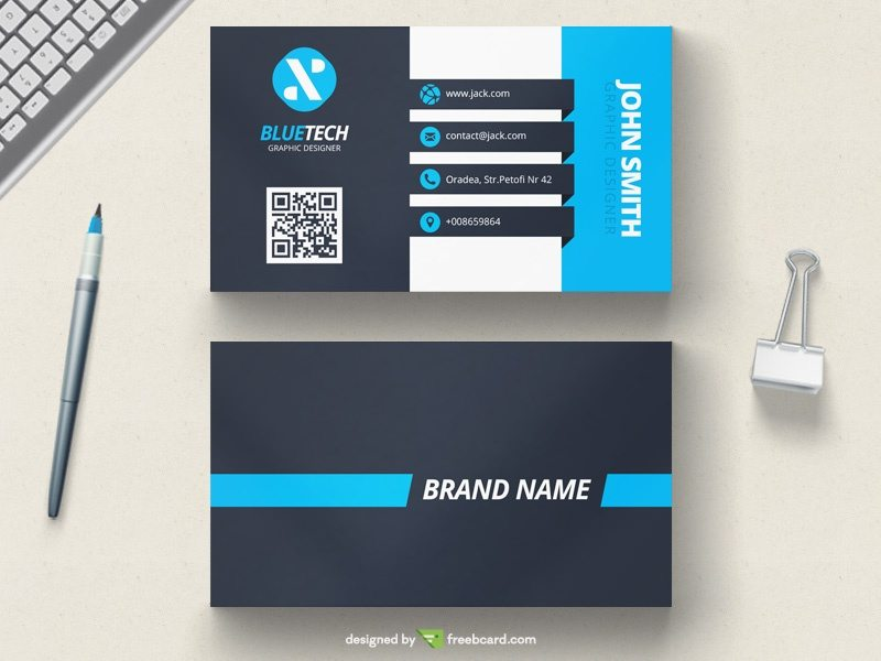 Stunning Blue Corporate Business Card Template