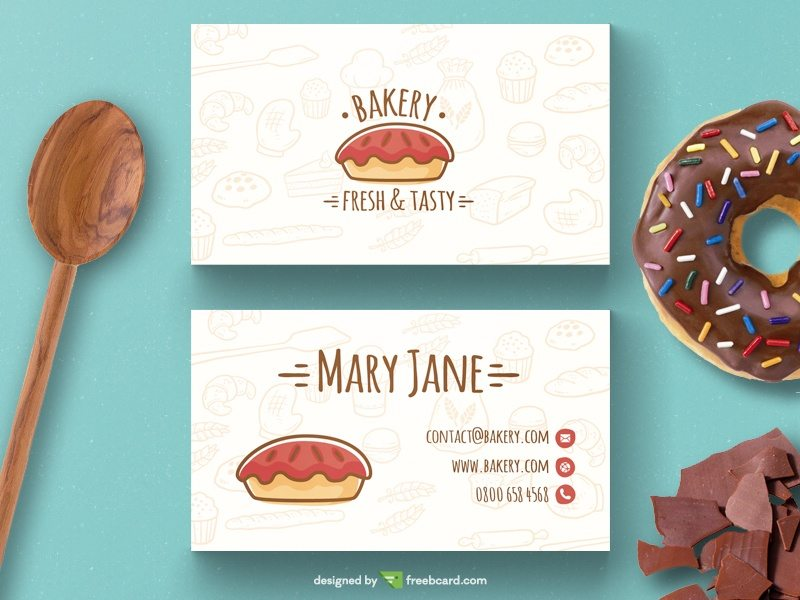 Bakery business card template