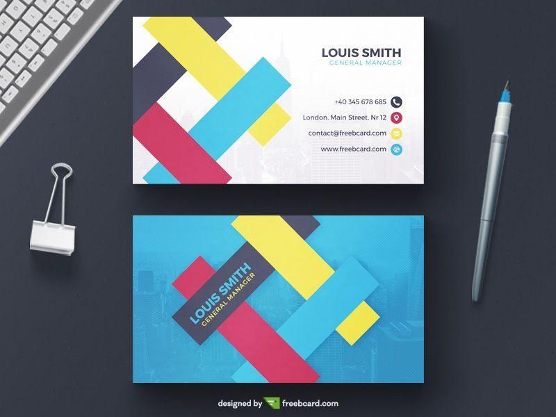Creative corporate business card template