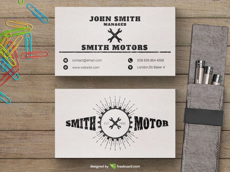Creative Car service business card