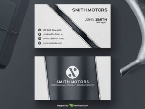 Glossy corporate business card