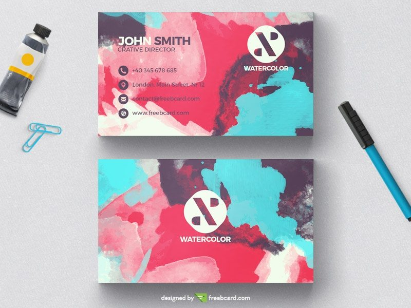 Creative Creative watercolor business card template