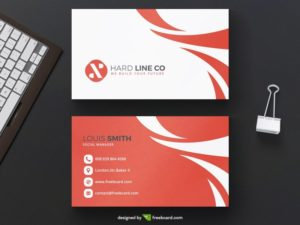 Red minimal business card template
