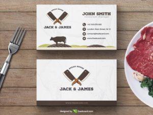 Steak Restaurant Business Card Template