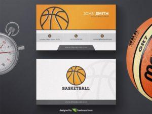 Basketball Business Card Template