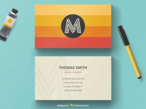 Orange minimal business card