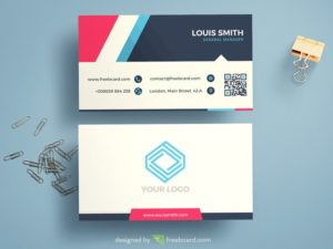 Minimal Corporate Blue Business Card Template
