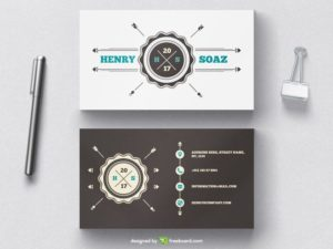Vintage badge business card template