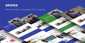NRGika - Material Design Agency Template