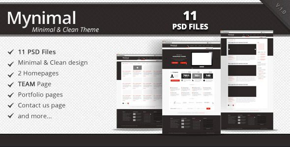 Mynimal - Themeforest Clean & Minimal Corporate PSD Theme
