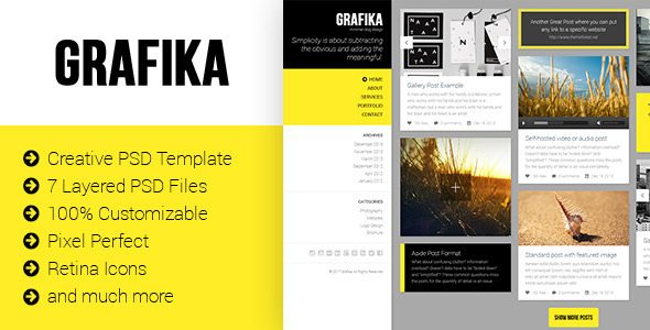 Grafika - Photography & Blog PSD Template