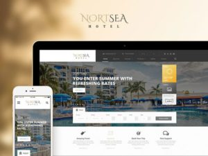 NortSea - Creativemarket Hotel Multipurpose PSD Template