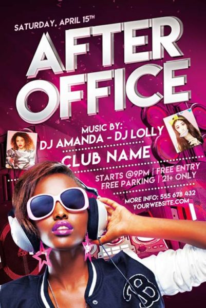After Office Party Free Flyer Template