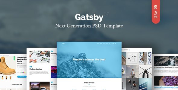 Gatsby - Creative Multipurpose PSD Template