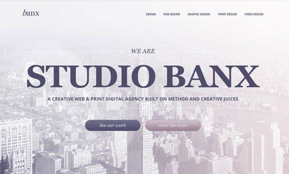 Creative Banx: agency free PSD template