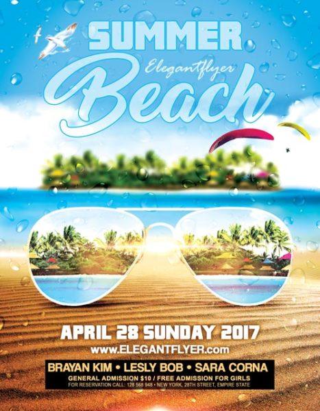 Summer Beach Party Event PSD Flyer Template
