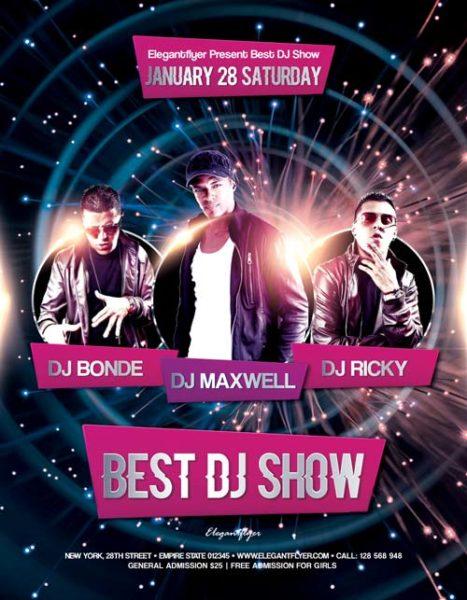 Best DJ Show Free Flyer Template