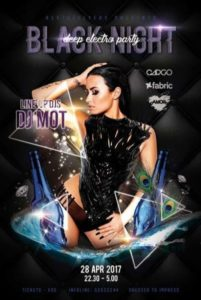 Black Night Party Free Flyer Template