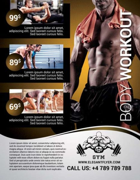 Body Workout Free Flyer Template