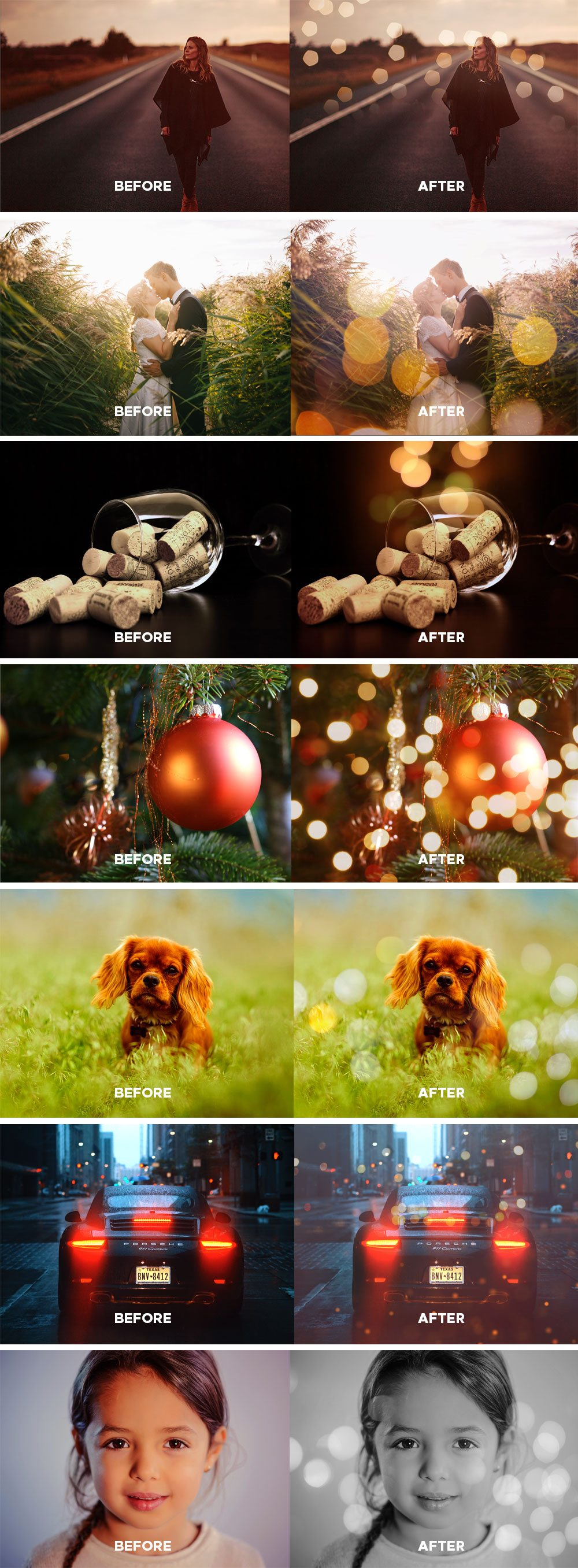 Creative Free Bokeh Photo Overlays