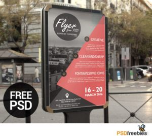 Creative Business Advertisement poster or Flyer Template PSD