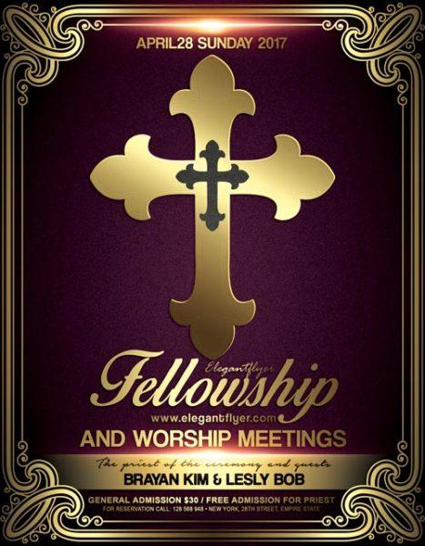 Church Meeting Event PSD Flyer Template