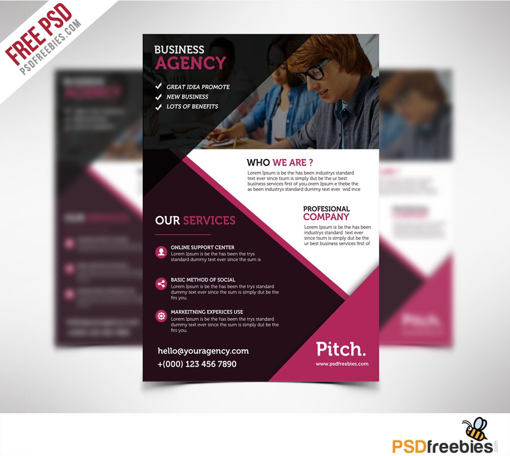 Creative Clean and Professional Business Flyer Free PSD