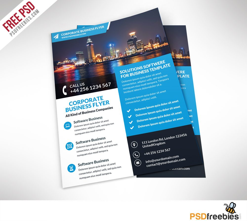 Creative Corporate Business Flyer Free PSD Template