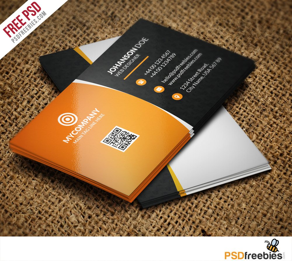 Creative Corporate Business card Bundle Free PSD