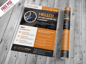 Creative Corporate and Clean Business Flyer PSD Template