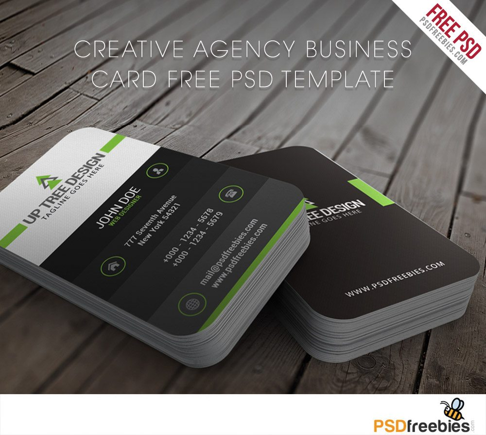 Creative Creative Agency Business Card Free PSD Template