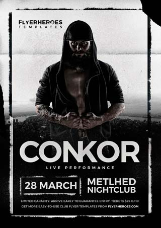 Conkor Free PSD Flyer Template